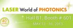 Laser World of Photonics 2013